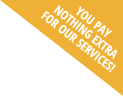You Pay Nothing Extra For Our Services